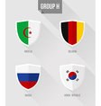 Brazil Soccer Championship 2014 Group H flag signs vector image