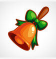 cartoon christmas bell vector image vector image