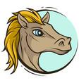 cartoon cute handsome horse head icon vector image