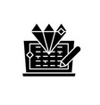 code development black icon sign on vector image