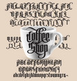 coffee shop gothic font vector image vector image