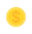 coin with dollar icon vector image vector image