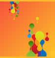 colorful background for advertising vector image vector image