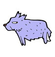 comic cartoon terrier vector image vector image