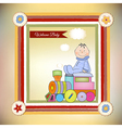 customizable birthday greeting card with train vector image vector image