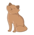 Cute cat sitting icon cartoon style vector image vector image