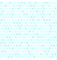 cyan flower pattern seamless vector image vector image