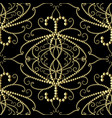 dotted gold 3d damask seamless pattern vector image vector image