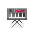 electric piano flat vector image vector image