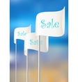 Flags for sales actions vector image