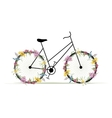Floral bicycle for your design vector image vector image