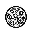 gear circle logo vector image