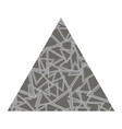 grey textured triangle vector image vector image