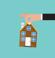 hand catch home real estate buying conceptual vector image vector image
