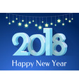 happy new year banner stars vector image vector image