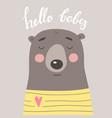 hello baby vector image vector image