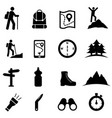 hiking recreation and leisure icon set vector image vector image