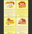 hot price exclusive products super offer posters vector image vector image
