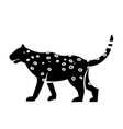 leopard icon vector image vector image