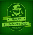 leprechaun template in green vector image vector image