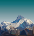 low poly mountain landscape vector image