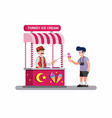 man selling ice cream traditional street food vector image vector image