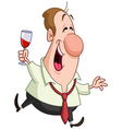 man with wine glass vector image