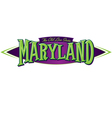 Maryland The Old Line State vector image vector image