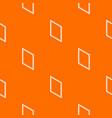 metal-plastic window frame pattern orange vector image vector image