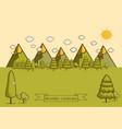 mountain landscape creative vector image vector image