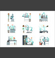new technologies artificial intelligence set vector image