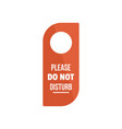 please do not disturb hanger tag icon flat style vector image vector image