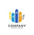 real estate building logo vector image vector image