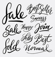 sale and best seller hand written typography vector image vector image