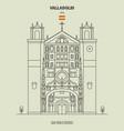 san pablo church in valladolid spain vector image vector image