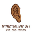 save your hearing international day concept vector image vector image