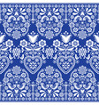 scandinavian floral folk seamless pattern vector image vector image