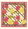 scarf floral pattern design vector image