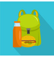 school lunch icon flat style vector image vector image