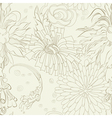 seamless wallpaper with flowers vector image vector image