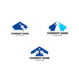 set of click house logo template design vector image
