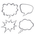 set of speech bubbles isolated on white back vector image