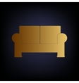 Sofa sign Golden style icon vector image vector image