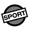 sport black stamp vector image