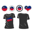 t-shirt with the flag of Liechtenstein vector image