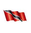 trinidad and tobago flag on a vector image vector image