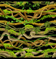 twisted wild lianas seamless pattern vector image vector image