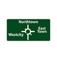 usa traffic road signs upcoming roundabout exits vector image