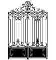 vintage gate vector image