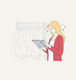 work cloth shopping business fashion beauty vector image